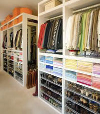 Organized Closet white shelves